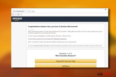 """Congratulations Amazon User""-Virus"