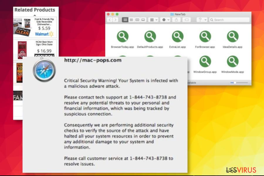 Der Mac-Virus Cool New Tab Theme