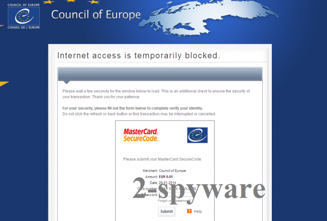 Council of Europe virus-Screenshot
