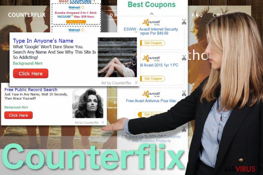 Abbildung Counterflix-Anzeigen