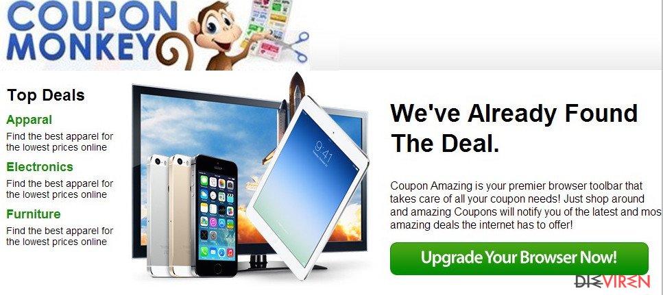 Coupon-Monkey-Anzeigen-Screenshot