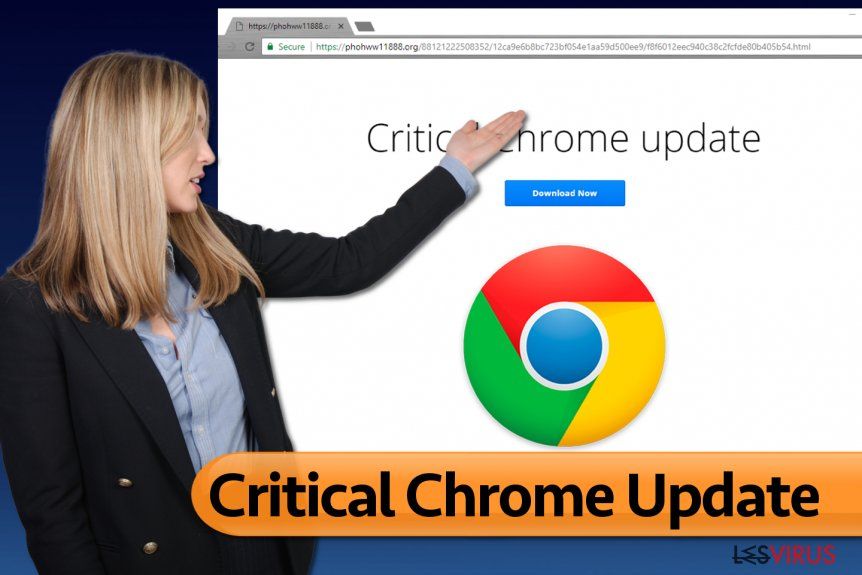 """Critical Chrome Update""-Virus"
