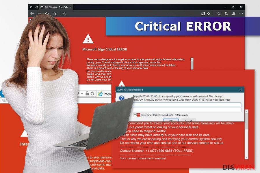 Abbildung Critical ERROR