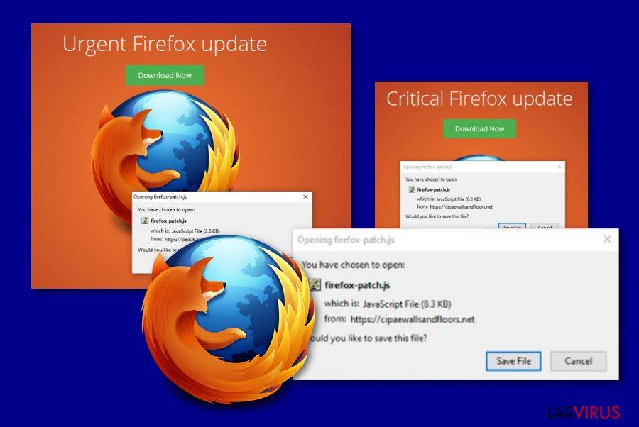 """""""Critical Firefox Update""""-Nachricht"""