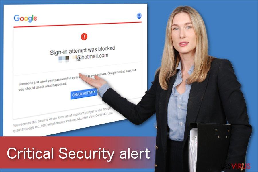 Eine Illustration der kritischen Sicherheitswarnung