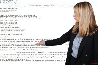 Portugiesische Variante des Erpressungsprogramm CryptoLocker