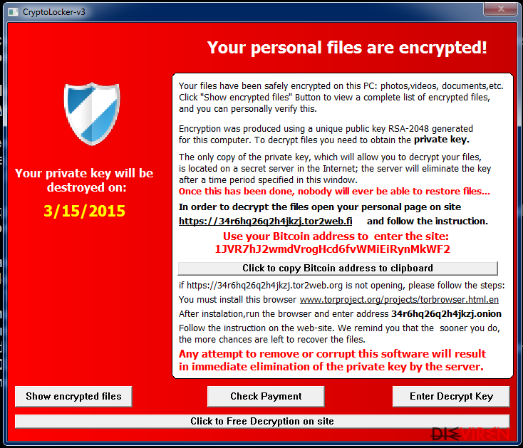 Cryptolocker-v3 virus