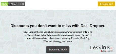 Deal-Dropper-Pop-up-Anzeigen-Screenshot