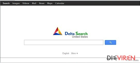 Delta Search virus-Screenshot