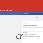 """""""Malware auf nachfolgender Website""""-Screenshot"""