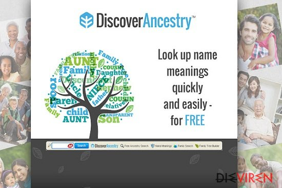 DiscoverAncestry Toolbar-Screenshot