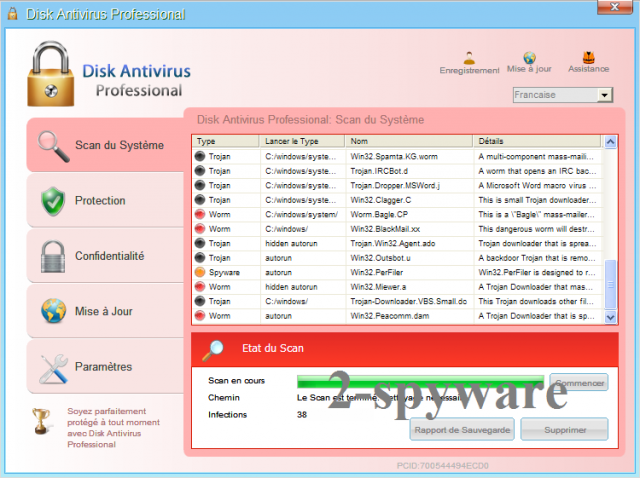 Disk Antivirus Professional-Screenshot