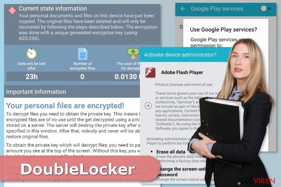 Bild eines Angriffs der DoubleLocker-Erpressersoftware