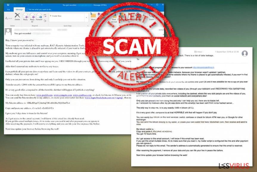 Mailbetrugskampagne Drive by Exploit