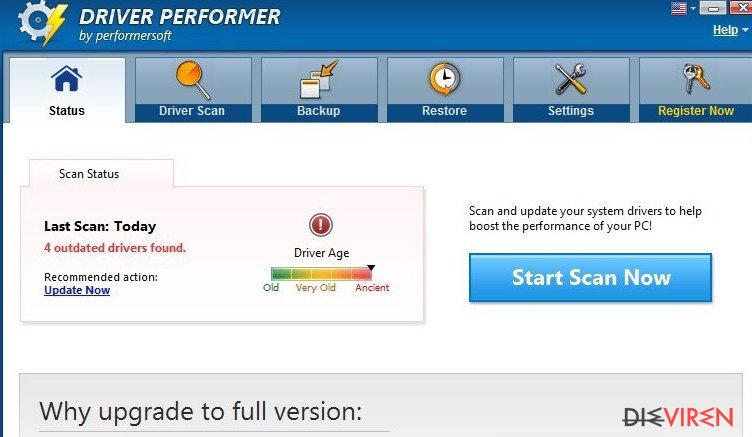 Driver Performer-Screenshot