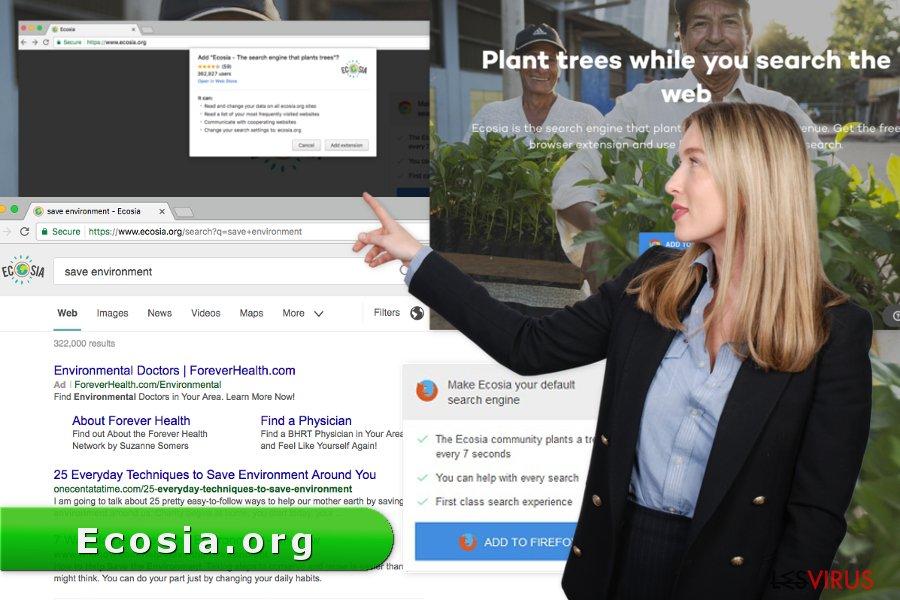 Abbildung Ecosia.org-Virus