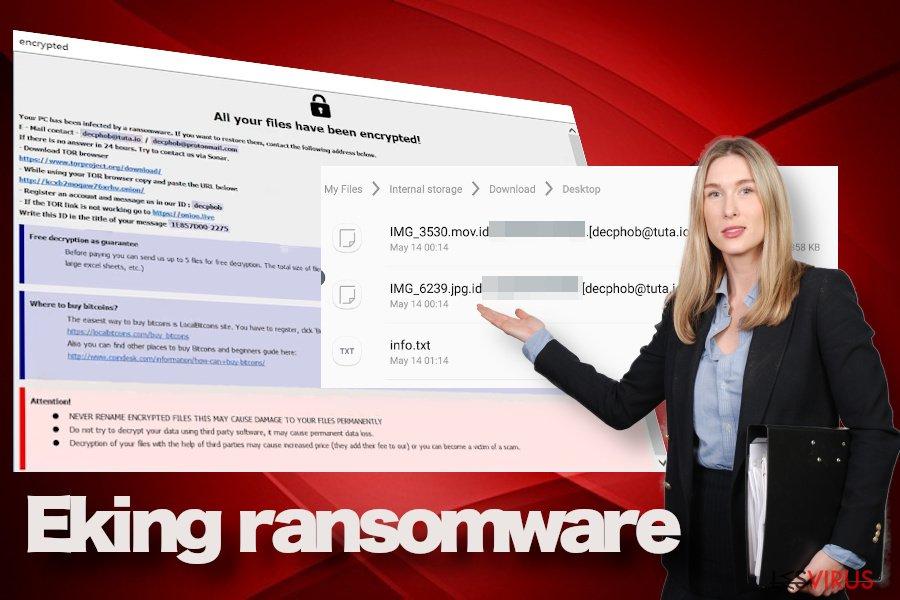 Der Ransomware-Virus Eking