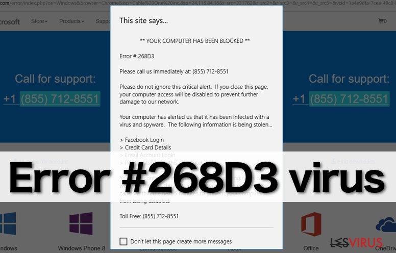 """""""Error #268D3""""-Virus"""