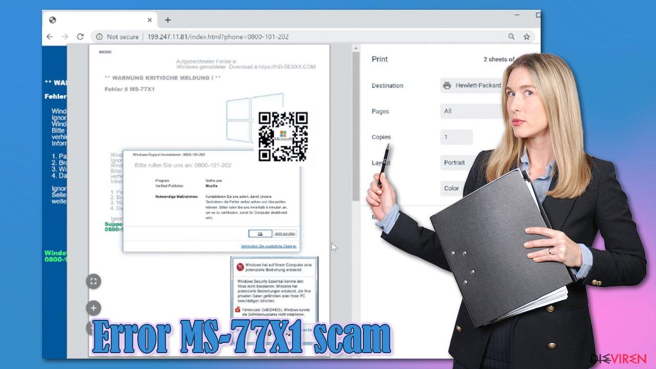 Scam Error MS-77X1