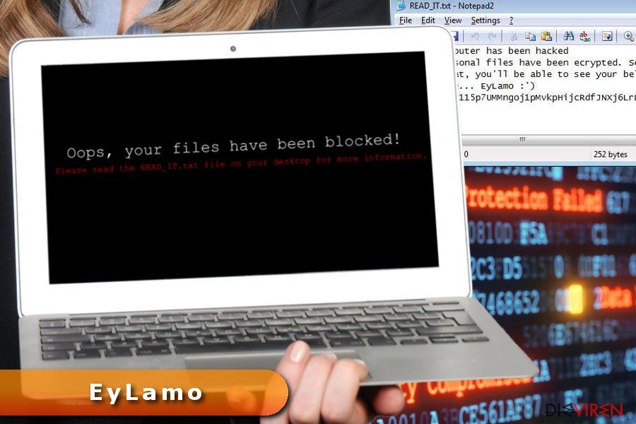 Abbildung EyLamo-Erpressersoftware