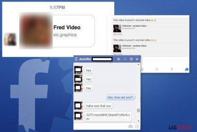 Beispiele Facebook-Nachrichtenvirus