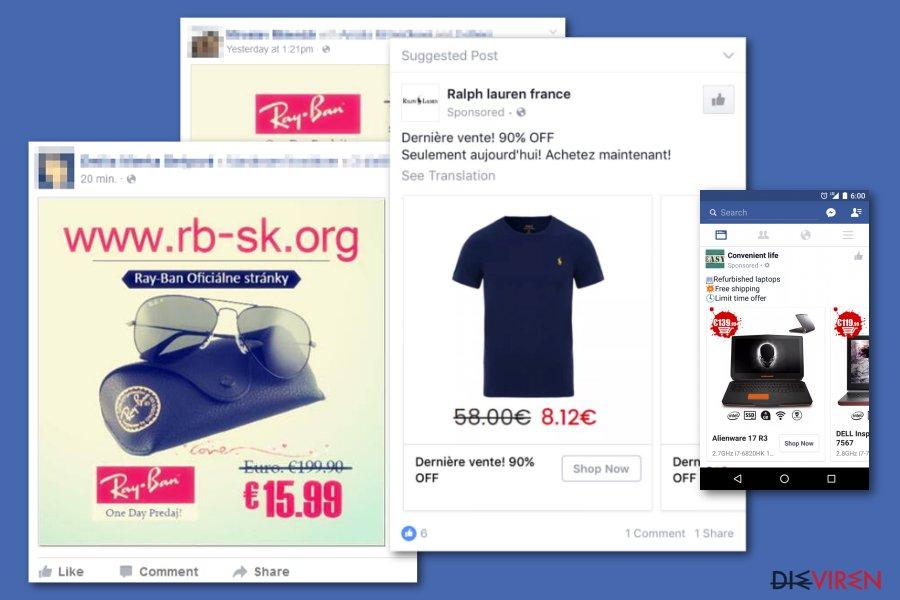 Betrügerische Facebook-Anzeigen