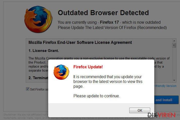 WARNUNG: Ihr derzeitiger Browser ist veraltet!-Screenshot