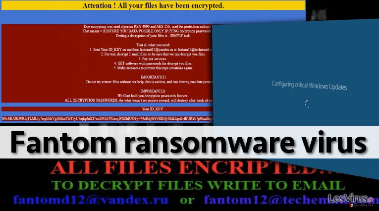 Screenshot of Fantom ransomware virus