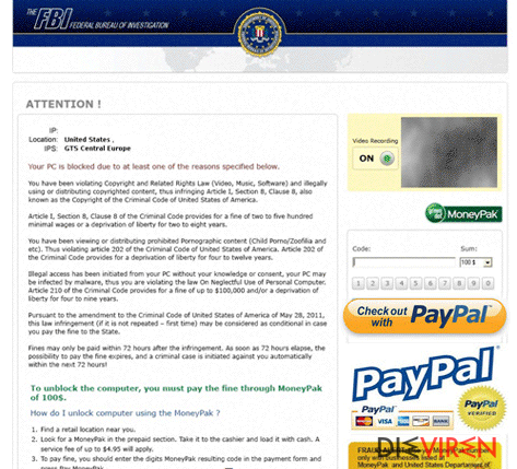 FBI PayPal virus-Screenshot
