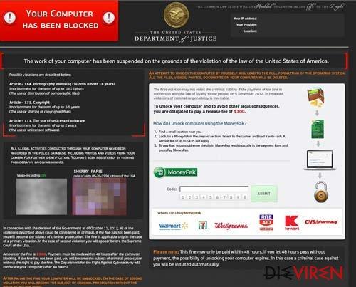FBI Virus Black Screen