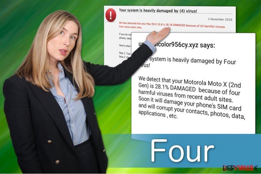 Vom Four-Virus gibt es mehrere Varianten