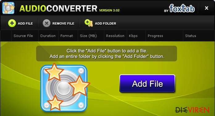 FoxTab Audio Converter-Screenshot