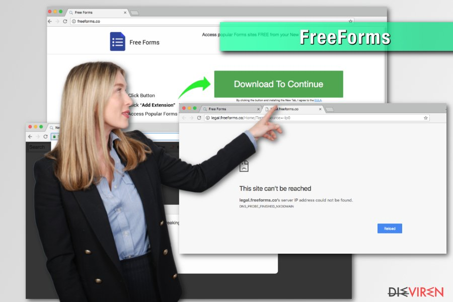 Browser-Hijacker FreeForms