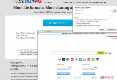 Screenshot From Doc to PDF Toolbar