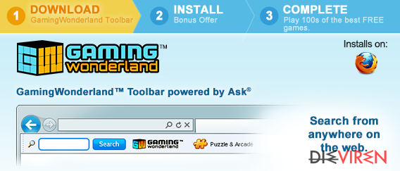 Gaming Wonderland Toolbar-Screenshot