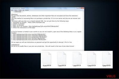 Der Erpresserbrief von GandCrab-Ransomware