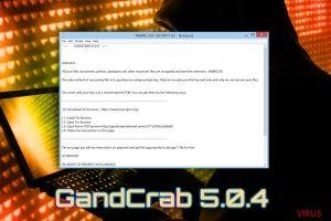 Gandcrab 5.0.4-Erpressersoftware