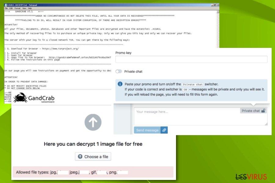 Gandcrab 5.1-Erpressersoftware-Screenshot
