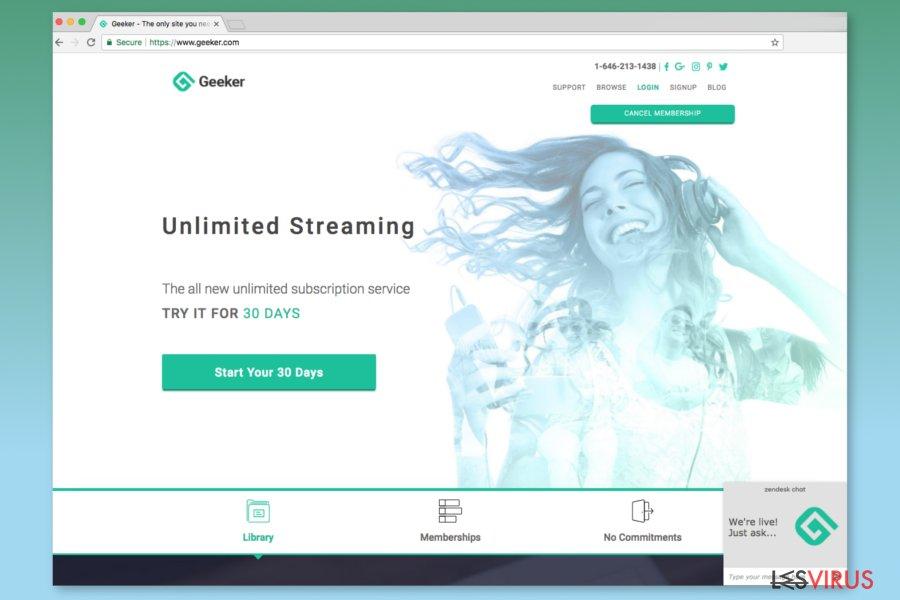 Screenshot der Geeker.com-Webseite