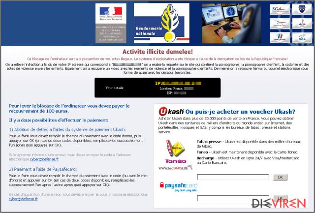 Virus Gendarmerie-Screenshot