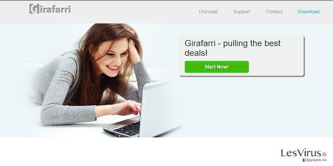 Girafarri-Anzeigen-Screenshot
