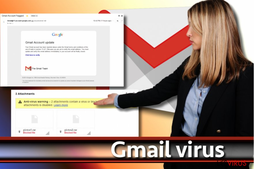 Screenshot Gmail-Virus