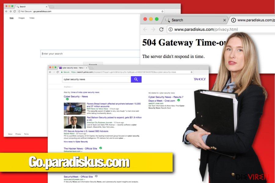 Browser-Hijacker Go.paradiskus.com