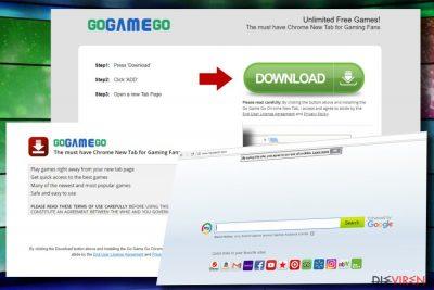 GoGameGo-Toolbar hijackt Chrome