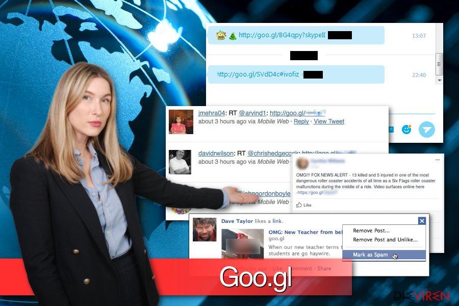 Beispiele Goo.gl-Schadsoftware