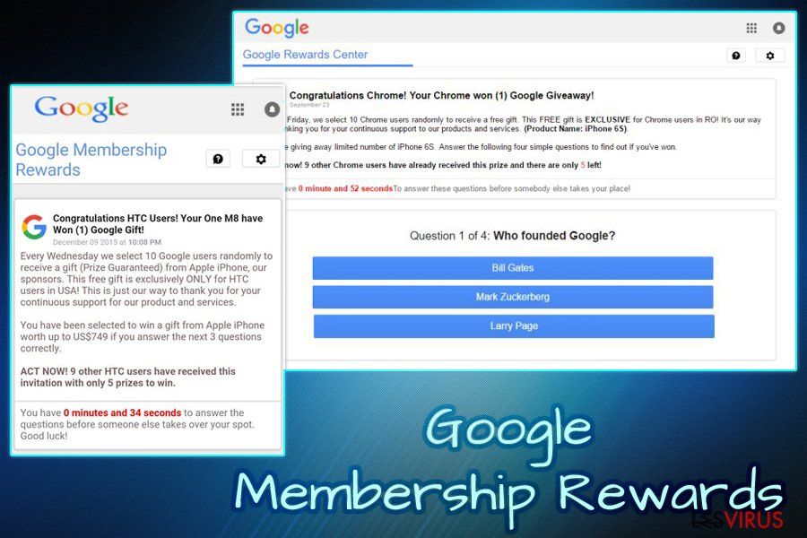 """Google Membership Reward""-Virus"