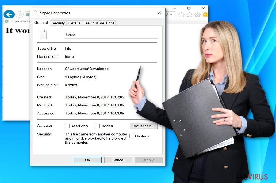 Abbildung der HBpix-Dateiinformation