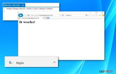 Screenshot von der Datei HBpix und der Webseite /idpix.media6degrees.com
