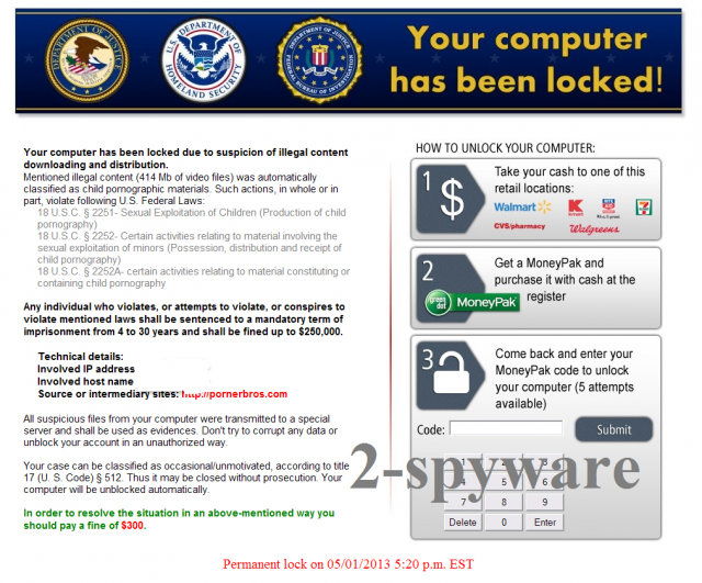 Homeland Security-Virus-Screenshot