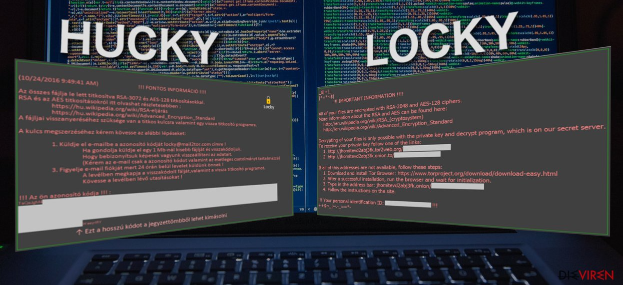 Image comparing Hucky and Locky ransomware viruses